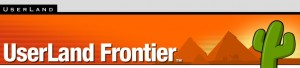 Frontier website header
